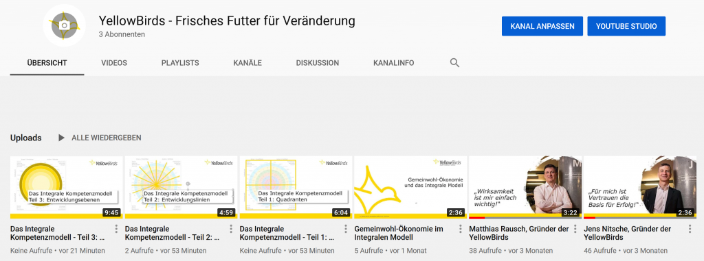 YellowBirds YouTube Kanal